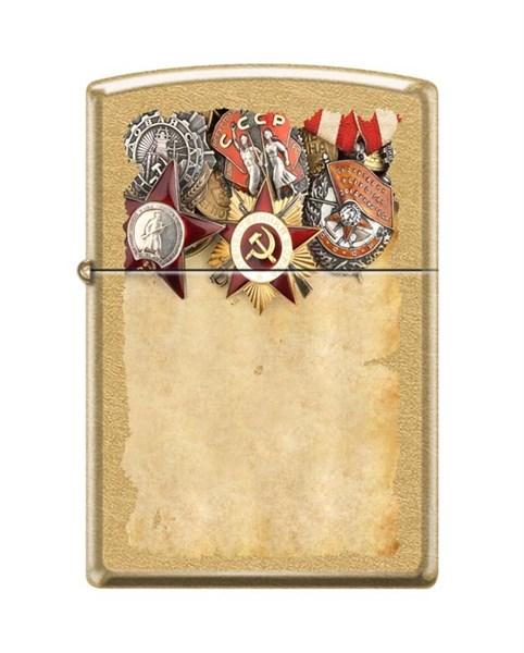 Зажигалка Советские ордена Зиппо (Zippo) 207G RUSSIAN MEDALS - фото 95865