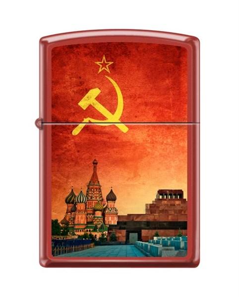 Зажигалка Красная Москва Зиппо (Zippo) 233 SOVIET DESIGN - фото 95869