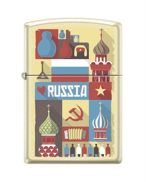 Зажигалка открытка из России Zippo 216 RUSSIAN POSTCARD - фото 95871