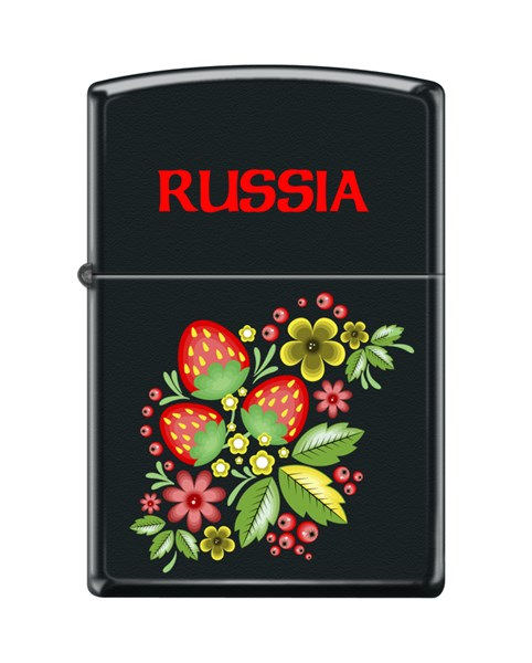 Зажигалка Ягода-Малина Зиппо (Zippo) 218 RUSSIAN KHOKHLOMA - фото 95875