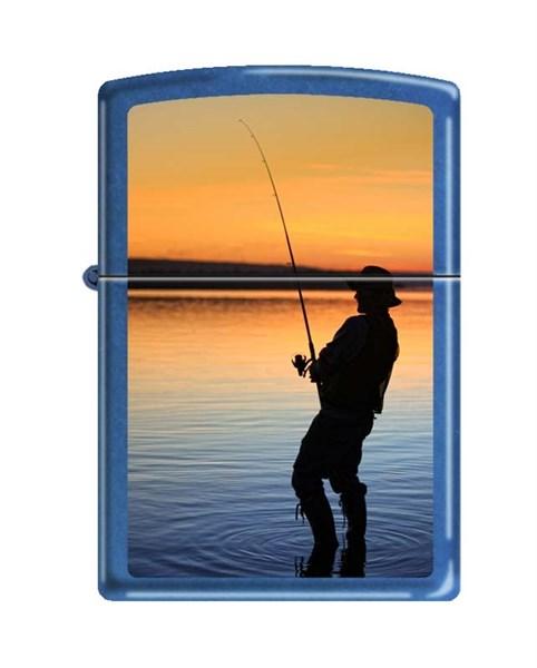 Зажигалка вечерняя рыбалка Зиппо (Zippo) 24534 FISHERMAN - фото 95889