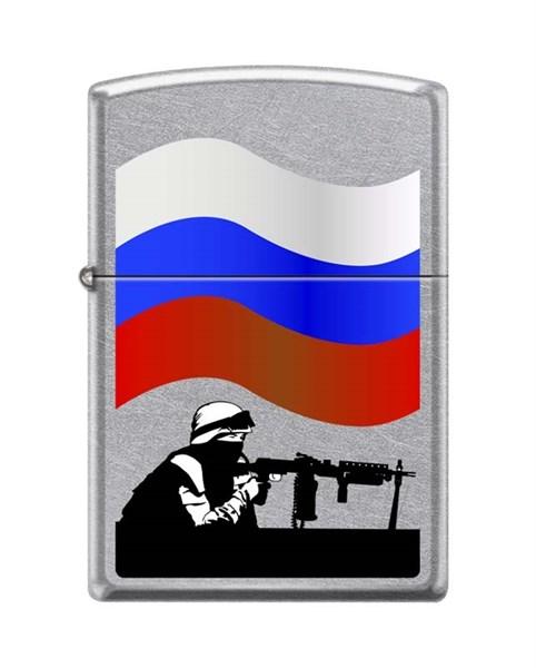 Зажигалка Защитник Отечества Зиппо (Zippo) 207 RUSSIAN SOLDIER - фото 95893