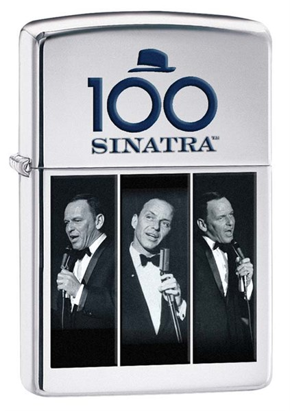 Зажигалка Фрэнк Синатра (Frank Sinatra) Зиппо (Zippo) 28960 - фото 96124