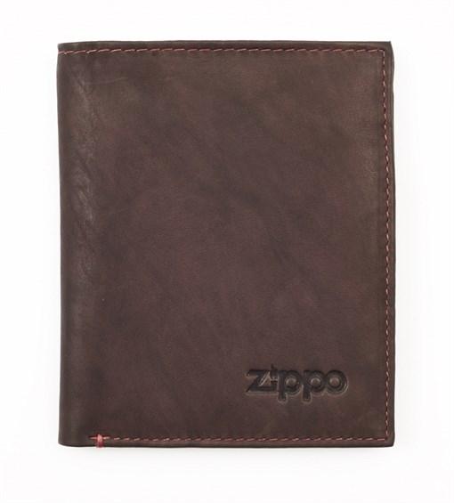 Вертикальное кожаное портмоне Zippo 2005122 - фото 96147