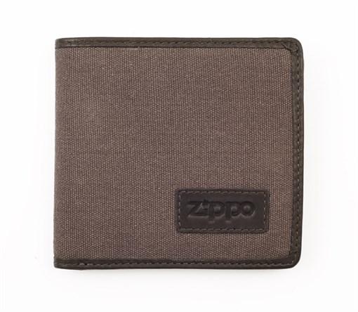 Портмоне из кожи и холщовой ткани Зиппо (Zippo) 2005120 - фото 96164
