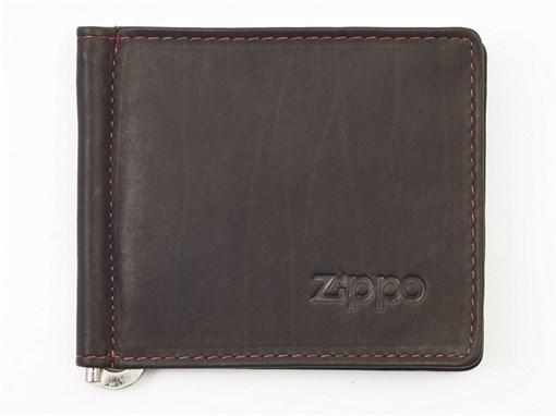 Кожаный двойное портмоне с зажимом для денег Зиппо (Zippo) 2005125 - фото 96169
