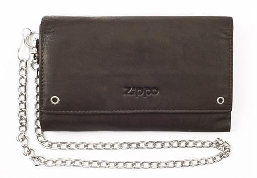 Кожаный бумажник байкера Zippo 2005129 - фото 96178