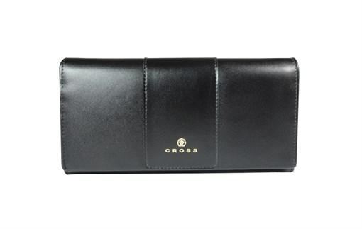 Кошелёк Cross Kelly Wall Black, кожа наппа, гладкая, цвет чёрный, 20 x 11 x 2,5 см - фото 98932