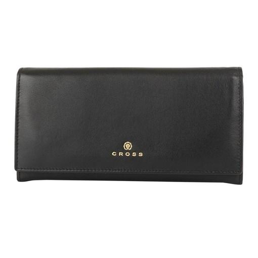 Кошелёк Кросс (Cross) Monaco Black, кожа наппа, гладкая, цвет чёрный, 20 x 11 x 2,5 см - фото 98984