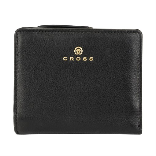 Кошелёк Кросс (Cross) Monaco Black, кожа наппа, гладкая, цвет чёрный, 11 x 9 x 2,5 см - фото 99016