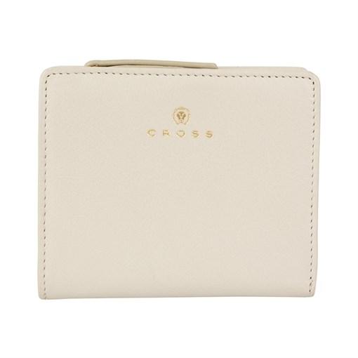 """Кошелёк Cross Monaco Ivory, кожа наппа, гладкая, цвет """"слоновая кость"""", 11 x 9 x 2,5 см - фото 99033"""