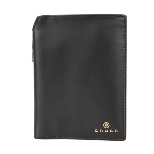 Бумажник для документов Cross Concordia Black, с ручкой Cross, кожа наппа, гладкая, черный, 14 х 11 - фото 99208