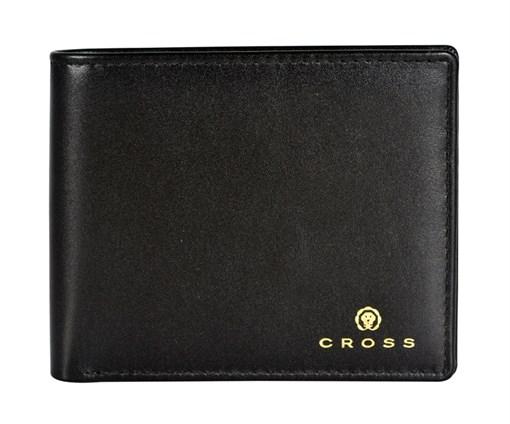 Кошелёк Кросс (Cross) Concordia Black, кожа наппа, гладкая, чёрный, 11 х 9 х 1,5 см - фото 99210