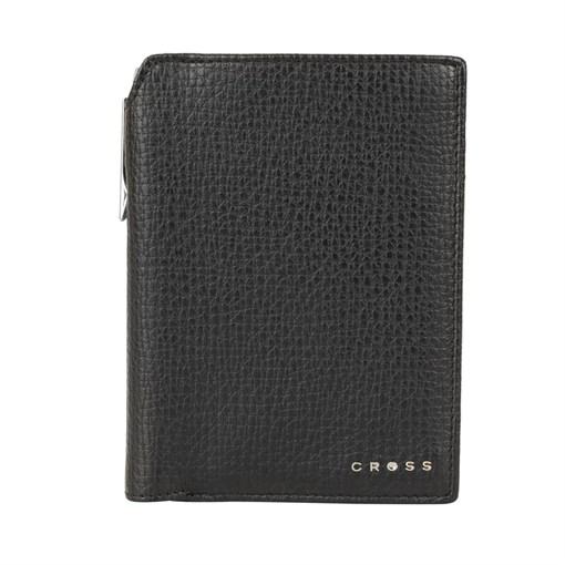 Бумажник для документов Cross RTC Black, с ручкой Cross, кожа наппа, тисненая, черный, 14 х 11 х 1 с - фото 99214