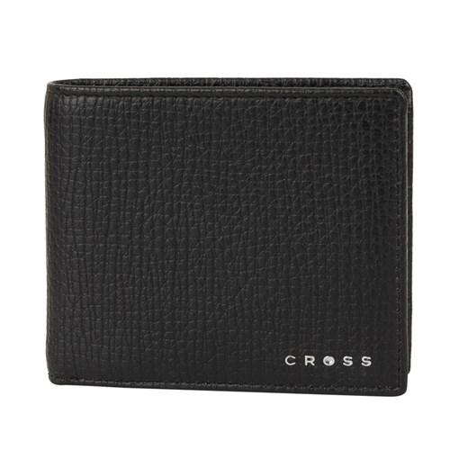 Кошелёк Cross RTC Black, кожа наппа, тисненая, чёрный, 11 х 9 х 1,5 см - фото 99216