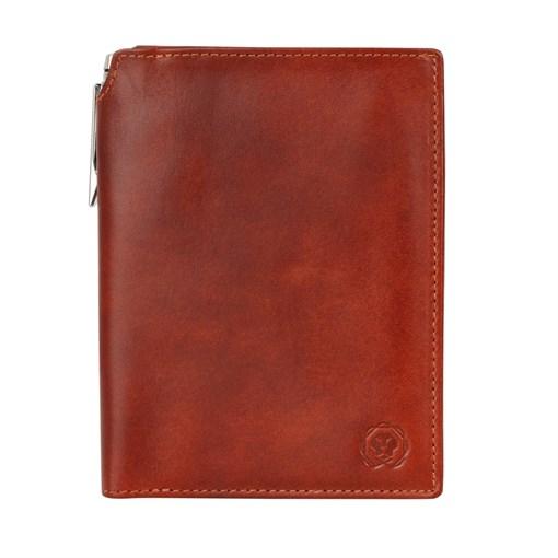 Бумажник для документов Cross Vachetta New Cognac, с ручкой Cross, кожа наппа, гладкая, рыже-коричне - фото 99220