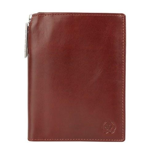 Бумажник для документов Cross Vachetta New Brandy, с ручкой Cross, кожа наппа, гладкая, коричневый, - фото 99222