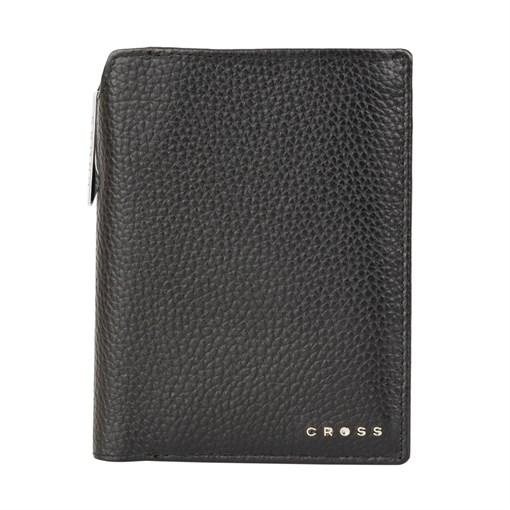 Бумажник для документов Cross Hudson Black, с ручкой Cross, кожа наппа, фактурная, черный, 14 х 11 х - фото 99230