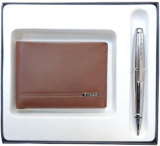 Набор подарочный портмоне и ручка Edge Кросс (Cross) AC018068-3NAB - фото 99242