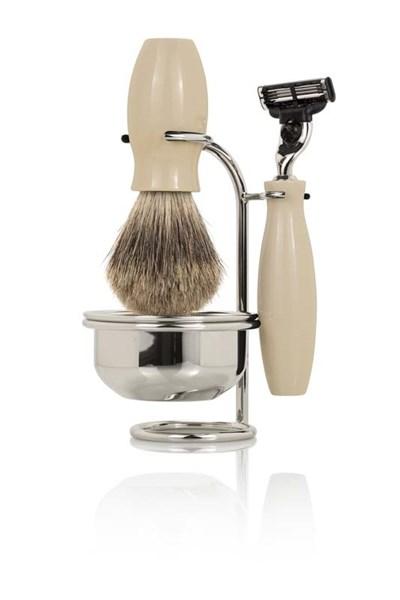 Бритвенный набор: станок, помазок, чаша, подставка Mondial ST05MT-A - фото 99583