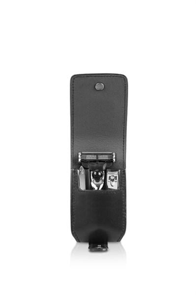 Бритвенный дорожный набор: в черном чехле: станок, пинцет, книпсер Mondial M-SV1209-9 - фото 99585
