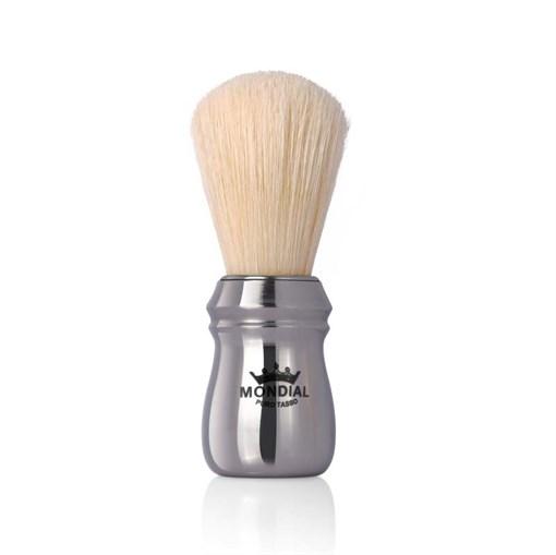 Помазок для бритья, металл, свиной ворс Mondial 125-CRO - фото 99606