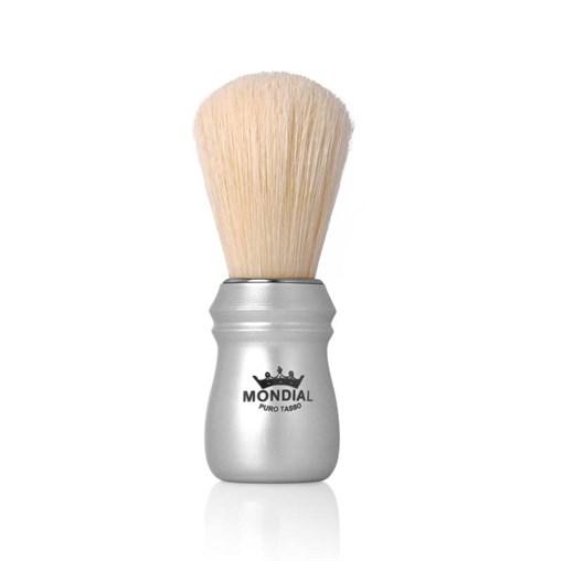 Помазок для бритья, металл, свиной ворс Mondial 125-ARG - фото 99608