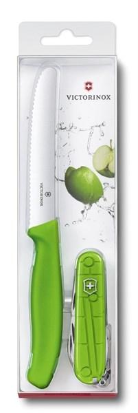 Набор: нож для овощей и перочинный нож 91 мм Victorinox 1.8901.L4 - фото 99652