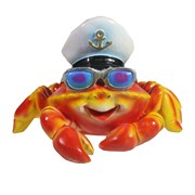 Фигура декоративная Краб в очках цвет: красный L20W26H18см