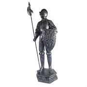Изделие декоративное Рыцарь цвет: серебристый L15W17H53см