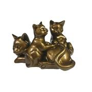 Фигура Кошка с котятами цвет: темное золото глянец L17W12H11см