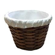 Кашпо декоративное Корзина плетенная круглая L18W18H12,5 см