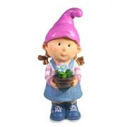Фигура декоративная Девочка-гном с цветочком L15W13H32 см