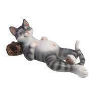 Фигура декоративная Кот отдыхает цвет: акрил L18W9H9 см