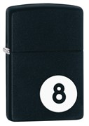Зажигалка Зиппо (Zippo) Classic с покрытием Black Matte, латунь/сталь, чёрная, матовая, 36x12x56 мм