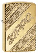 Зажигалка Зиппо (Zippo) Armor® с покрытием High Polish Brass, латунь/сталь, золотистая, 36x12x56 мм