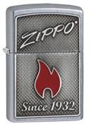 Зажигалка Зиппо (Zippo) Classic с покрытием Street Chrome, латунь/сталь, серебристая, матовая, 36x12x56 мм