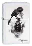 Зажигалка Зиппо (Zippo) Classic с покрытием White Matte, латунь/сталь, белая, матовая, 36x12x56 мм