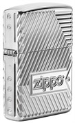 Зажигалка ZIPPO Armor® с покрытием High Polish Chrome, латунь/сталь, серебристая, 36x12x56 мм