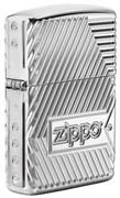 Зажигалка Зиппо (Zippo) Armor® с покрытием High Polish Chrome, латунь/сталь, серебристая, 36x12x56 мм