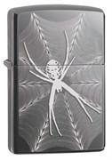 Зажигалка Зиппо (Zippo) Classic с покрытием Black Ice®, латунь/сталь, чёрная, глянцевая, 36x12x56 мм