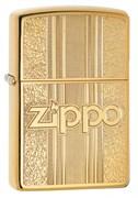 Зажигалка Зиппо (Zippo) Classic с покрытием High Polish Brass, латунь/сталь, золотистая, 36x12x56 мм