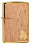Зажигалка Zippo Woodchuck с покрытием Brushed Brass, 29901