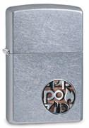 Зажигалка Зиппо (Zippo) Button с покрытием Street Chrome™, 29872