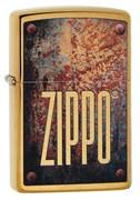 Зажигалка Зиппо (Zippo) Rusty Plate с покрытием Brushed Brass, 29879