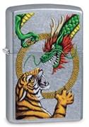 Зажигалка Зиппо (Zippo) Dragon Design с покрытием Street Chrome™, 29837