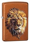 Зажигалка Зиппо (Zippo) Polygonal Lion с покрытием Toffee™, 29865