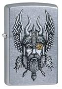Зажигалка Зиппо (Zippo) Viking Warrior с покрытием Street Chrome™, 29871