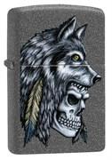 Зажигалка Зиппо (Zippo) Wolf Skull с покрытием Iron Stone™, 29863