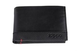Портмоне Zippo, с защитой от сканирования Rfid, натуральная кожа, 2006020